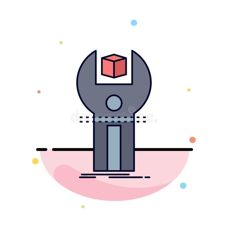SDK, App, sviluppo, corredo, vettore piano di programmazione dell'icona di colore illustrazione di stock
