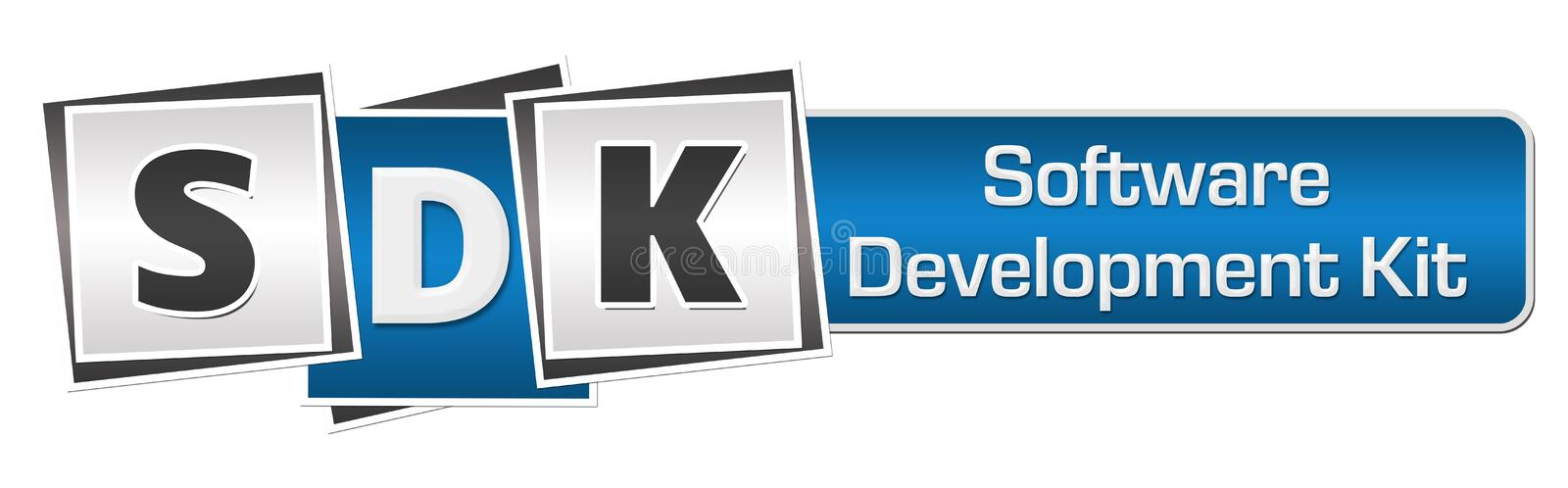 SDK - Software-ontwikkeling Kit Blue Grey Squares Bar vector illustratie