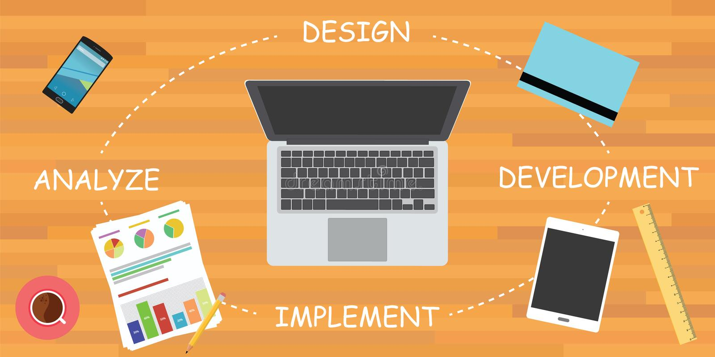 SDLC del ciclo de desarrollo de programas libre illustration
