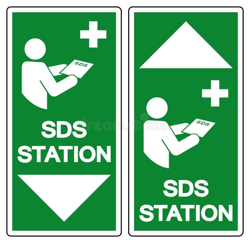 SDS Station Symbol Sign, Vector Illustration, Isolate On White Background Label .EPS10 royalty free illustration