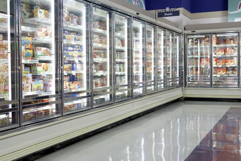 Seção congelada do alimento imagens de stock