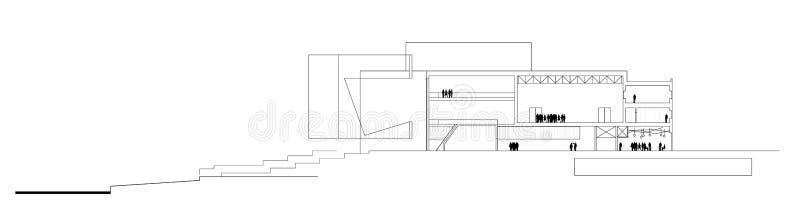 Seção da ópera ilustração stock