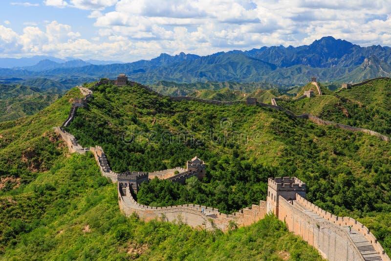 Seção de Jinshanling do Grande Muralha fotografia de stock