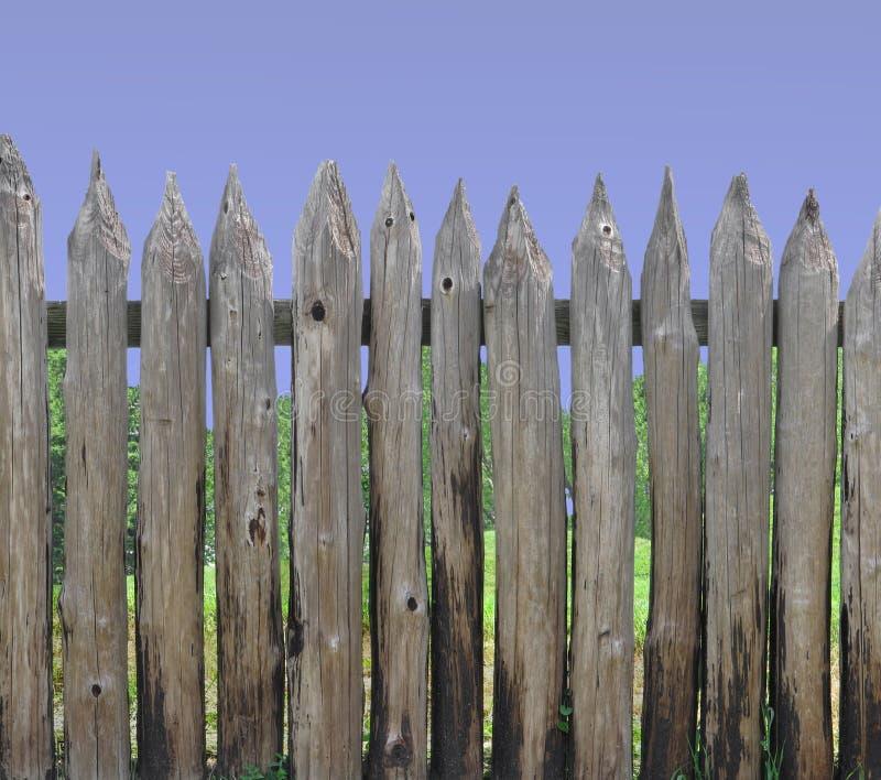 Seção de madeira do palisade do borne imagem de stock