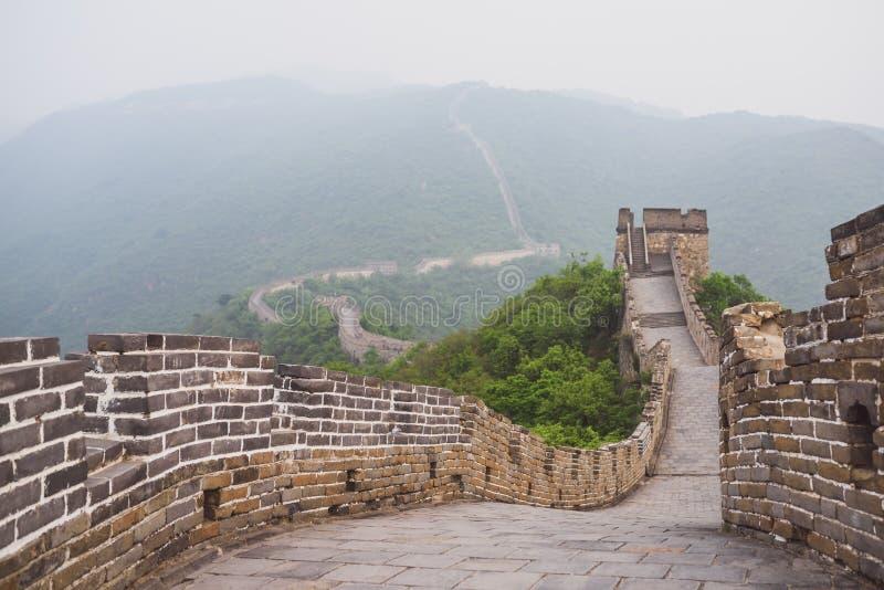 Seção de Mutianyu do Grande Muralha de China fotografia de stock