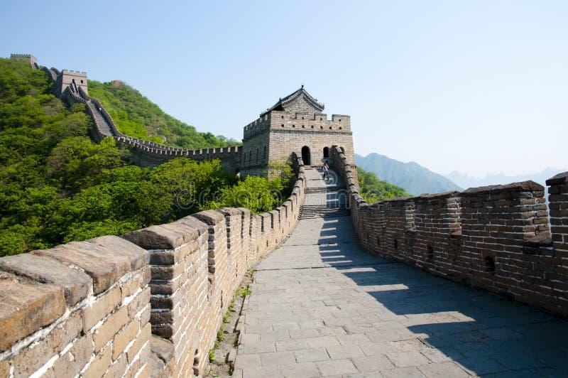 Seção de Mutianyu do Grande Muralha de China imagens de stock royalty free