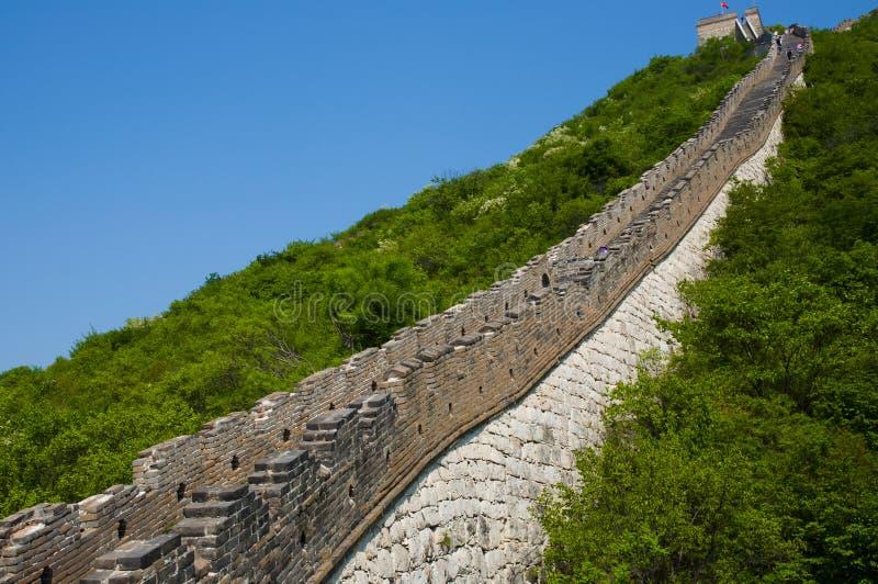 Seção de Mutianyu do Grande Muralha de China fotografia de stock royalty free