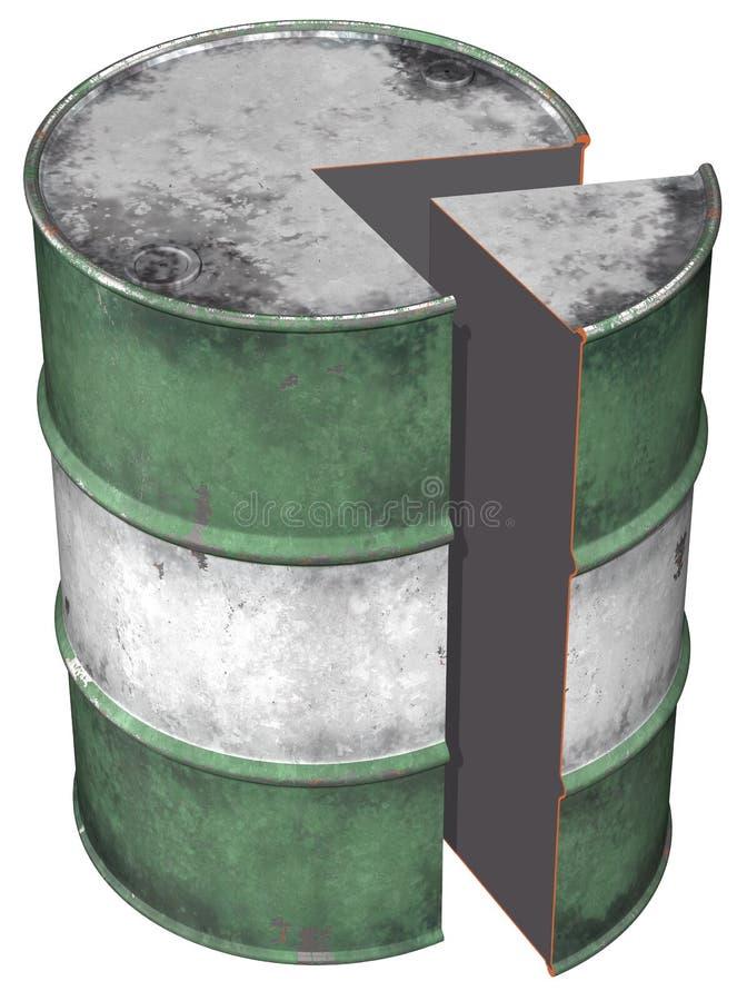 Seção do cilindro de petróleo ilustração do vetor