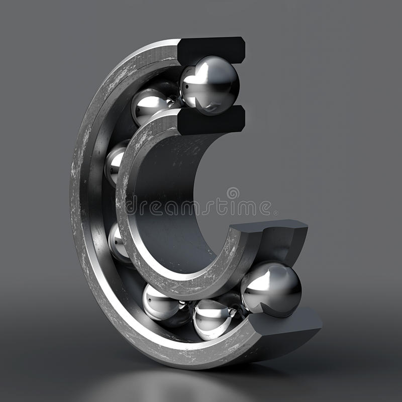 Seção do rolamento de esferas imagens de stock
