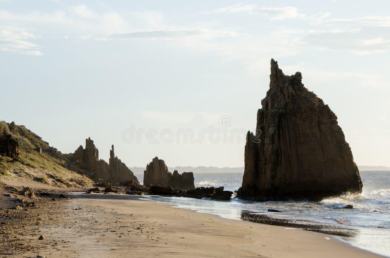 Seção litoral nos Vela do La - estrada no estado do ³ n de FalcÃ, Venezuela de Muaco imagens de stock royalty free