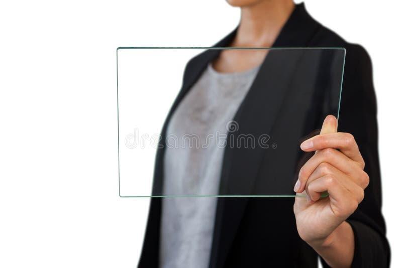 Seção meados de da mulher de negócios que guarda a relação fotografia de stock royalty free