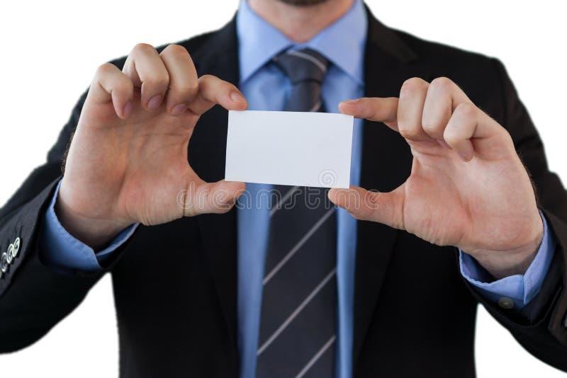 Seção meados de do homem de negócios que guarda o papel imagem de stock royalty free