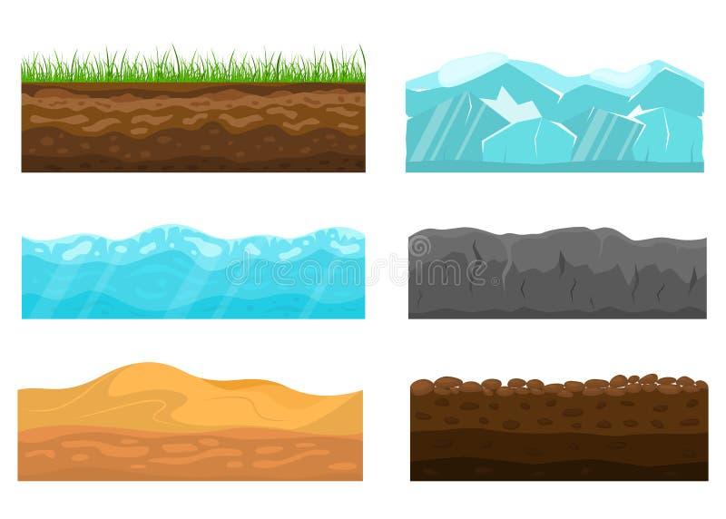 Seção transversal da cor do grupo da terra Vetor ilustração stock