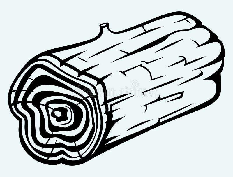 Seção transversal do coto de árvore ilustração do vetor
