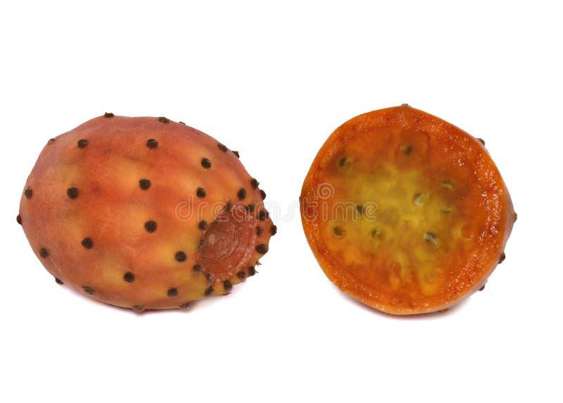 Seção transversal do fruto do cacto de pera espinhosa fotografia de stock royalty free