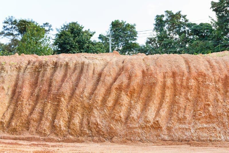 Seção transversal laterítico do solo fotografia de stock