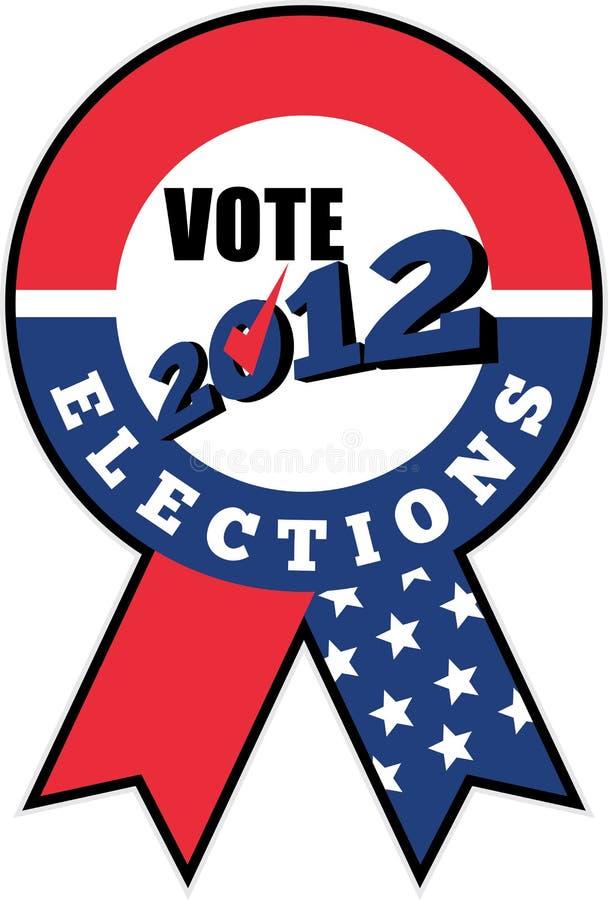 Señal americana 2012 de la cinta de los E.E.U.U. de la elección stock de ilustración