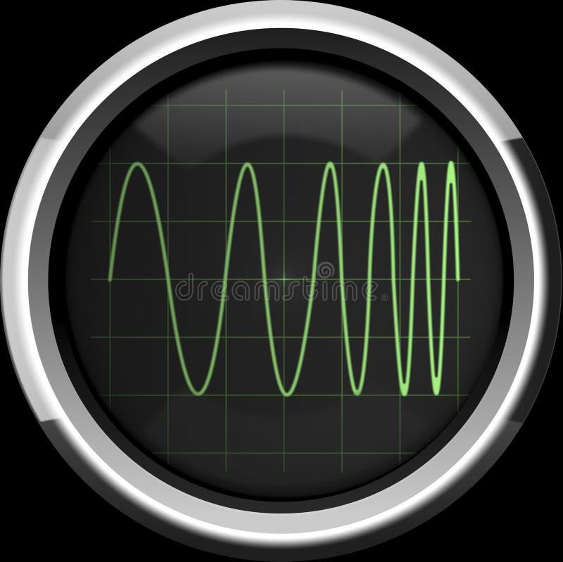 Señal con la modulación de frecuencia (FM) fotografía de archivo libre de regalías