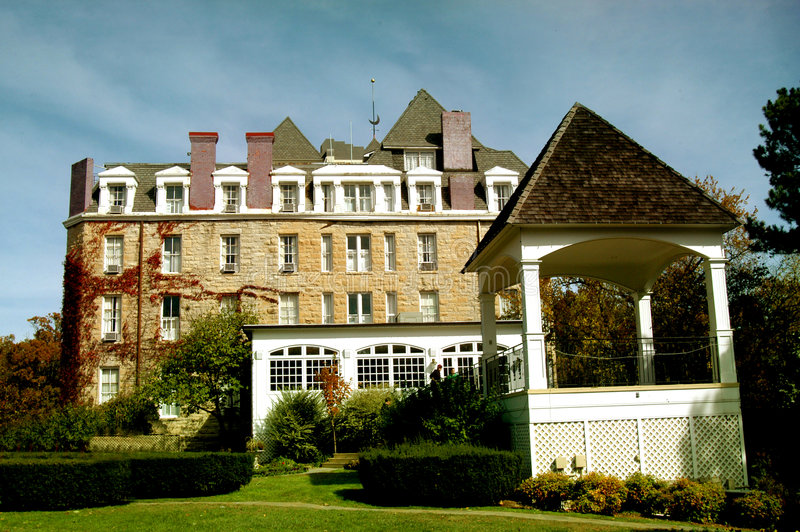 Señal crescent del hotel fotografía de archivo libre de regalías