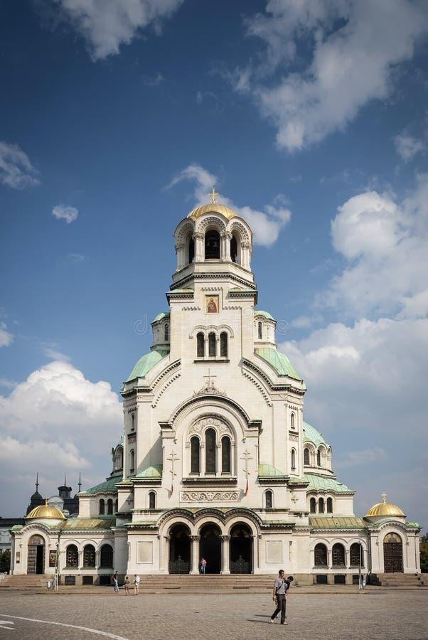 Señal de Alexander Nevsky Cathedral del santo en el bulga central de Sofía fotos de archivo libres de regalías