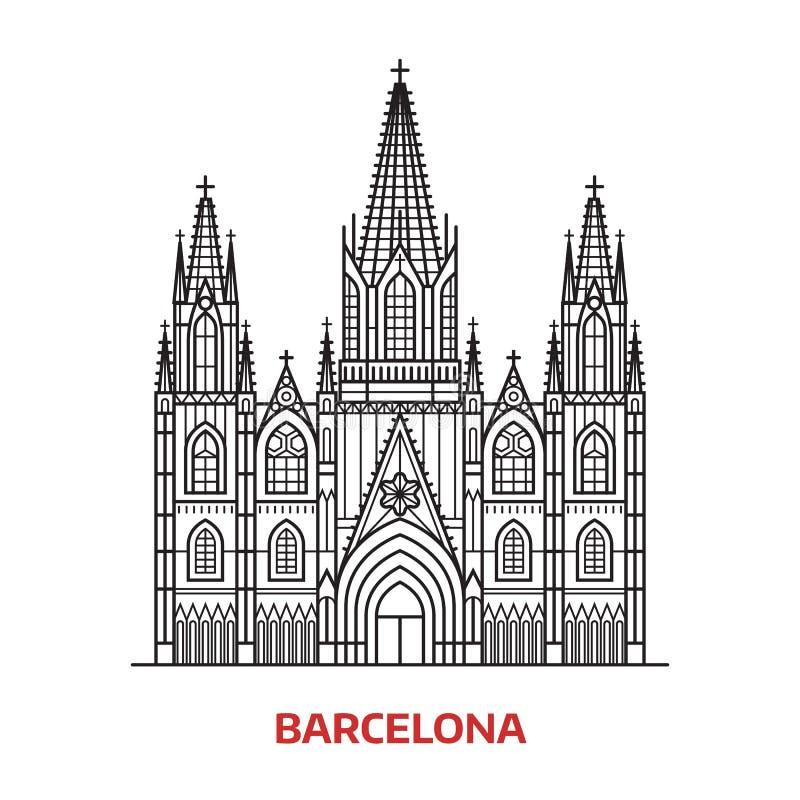 Señal de Barcelona del viaje stock de ilustración