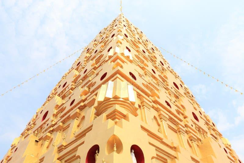 Señal de Buddhakaya Chedi de Sangklaburi fotografía de archivo libre de regalías