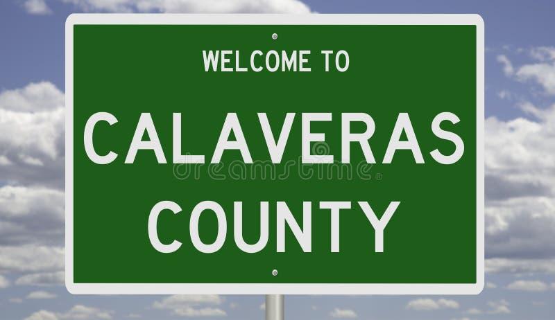 Señal de carretera para el condado de Calaveras fotografía de archivo
