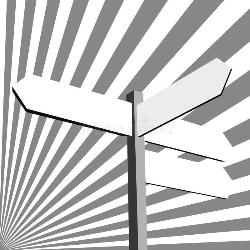 Señal de dirección ilustración del vector