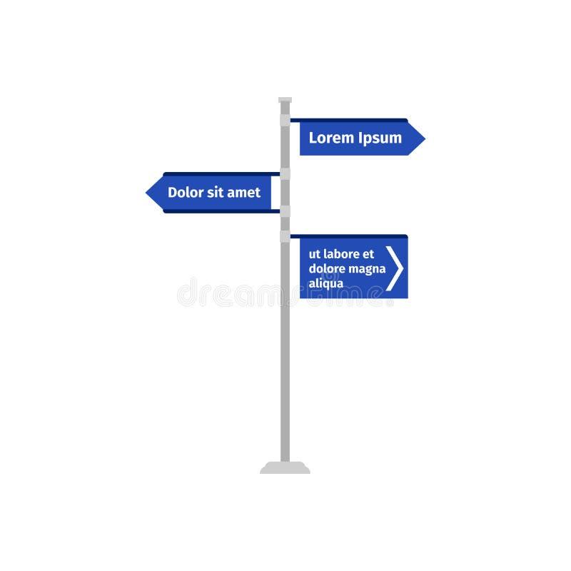 Señal de dirección múltiple del camino de las maneras libre illustration