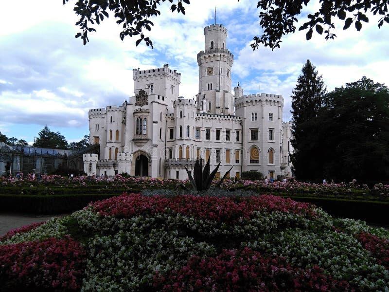 Señal de Hluboka del castillo en República Checa foto de archivo libre de regalías