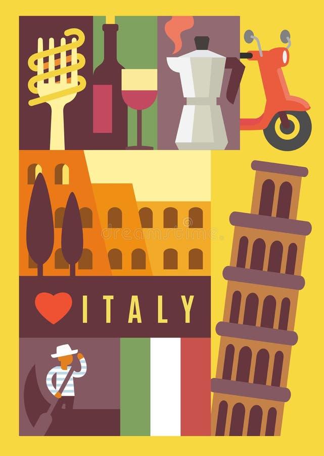 Señal de Italia inconsútil ilustración del vector