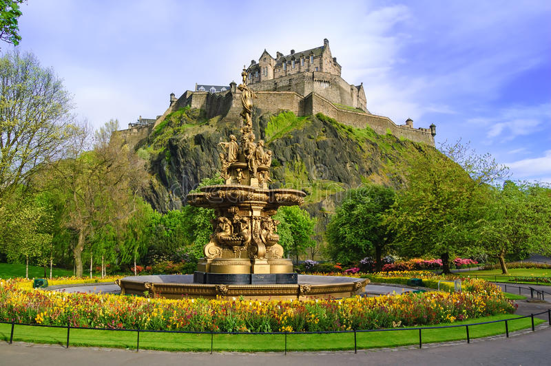 Señal de la fuente de Ross en Edimburgo, Escocia foto de archivo libre de regalías