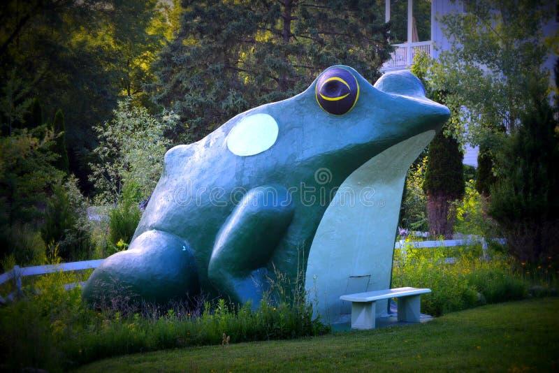 Señal de la rana de Fontana imagen de archivo