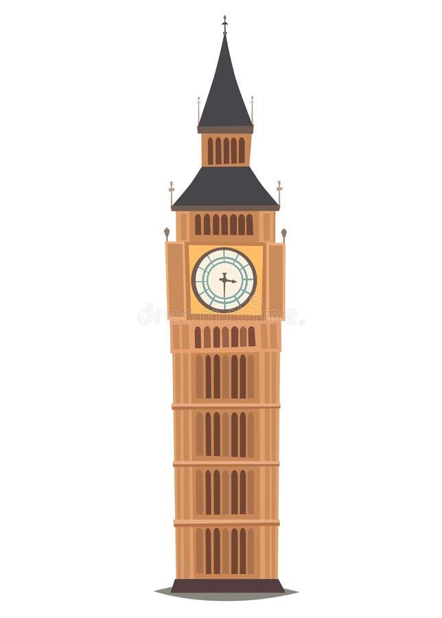 Señal de Londres, ejemplo del vector de la Reloj-torre de Big Ben ilustración del vector