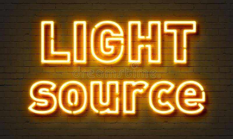 Señal de neón de la fuente de luz fotografía de archivo libre de regalías