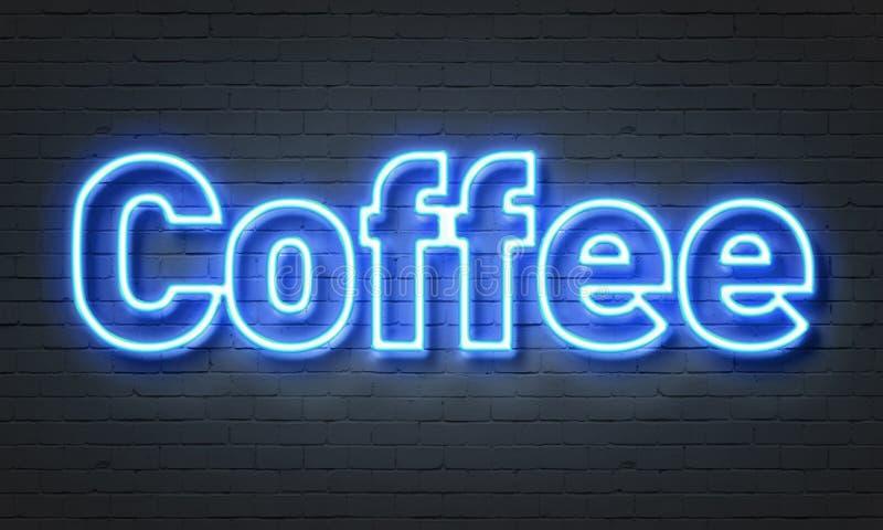 Señal de neón del café stock de ilustración