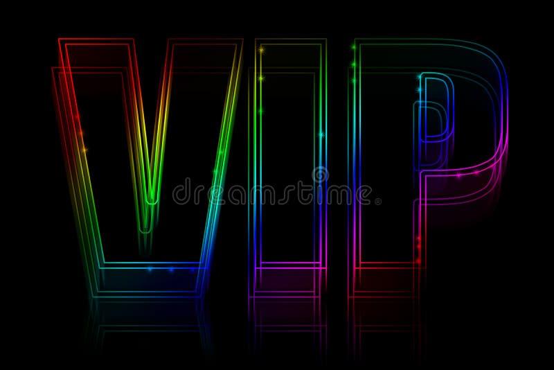 Señal de neón del VIP stock de ilustración