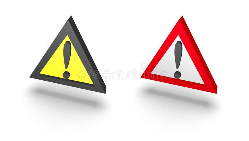 Señal de peligro stock de ilustración