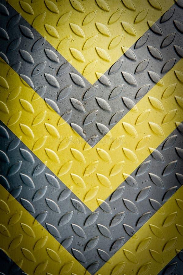 Señal de peligro amarilla y negra imagen de archivo