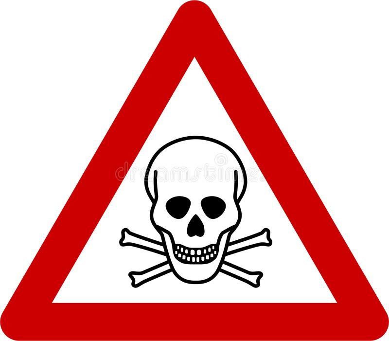 Señal de peligro con peligro mortal stock de ilustración