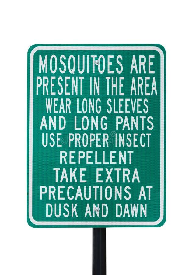 Señal de peligro de los mosquitos imagenes de archivo