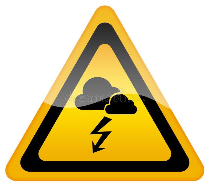 Señal de peligro del clima tempestuoso stock de ilustración