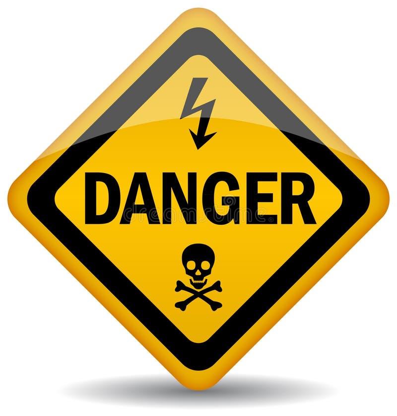 Señal de peligro del peligro ilustración del vector