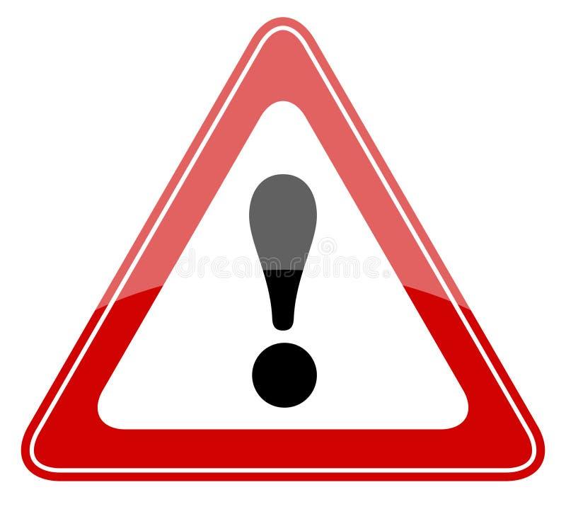 Señal de peligro del peligro stock de ilustración