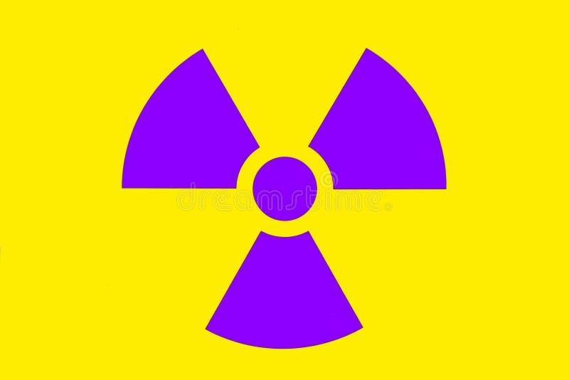 Señal de peligro de la radiación imagen de archivo libre de regalías