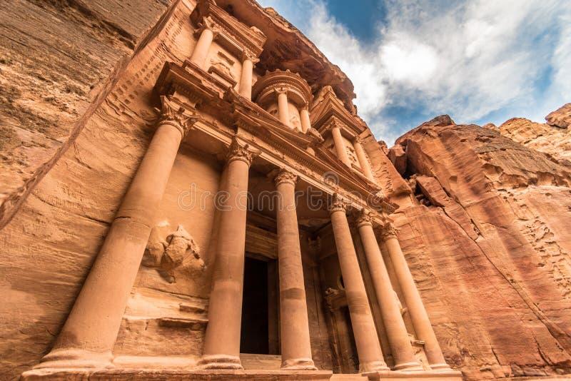 Señal de Petra Treasury, Wadi Musa, Medio Oriente, Jordania foto de archivo libre de regalías