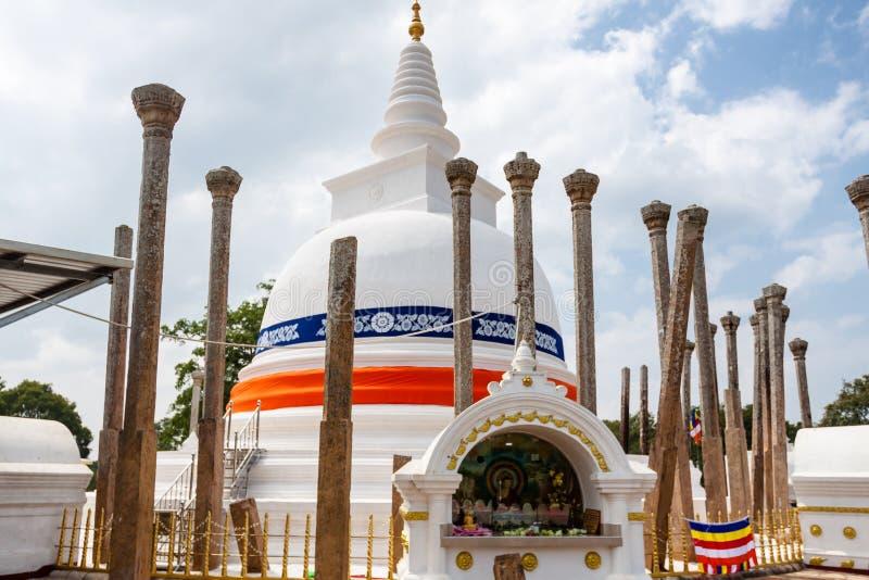 Señal de Thuparamaya Dagoba de Anuradhapura, Sri Lanka, Asia imagen de archivo