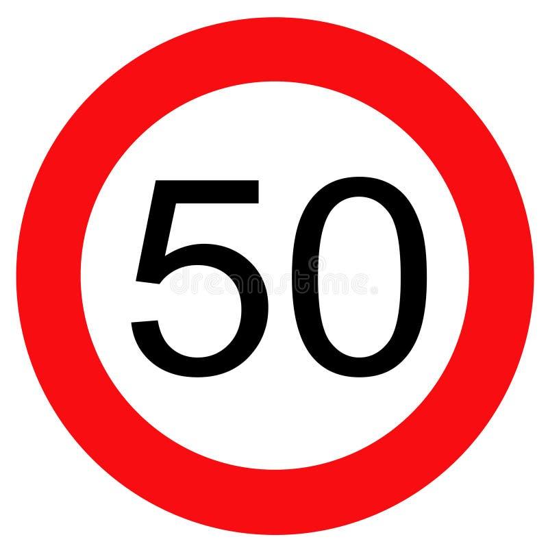 Señal de tráfico 50 stock de ilustración