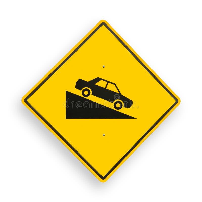 Señal de tráfico aislada en blanco, camino de recortes. imágenes de archivo libres de regalías