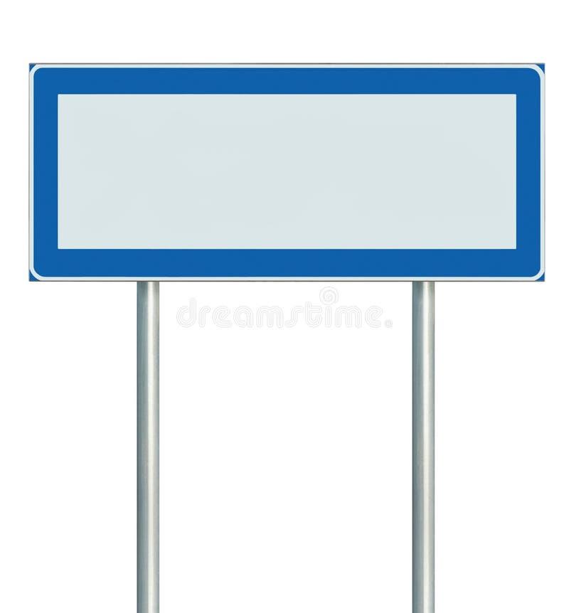 Señal de tráfico aislada, espacio vacío en blanco de la información de la copia del poste indicador para los iconos, pictogramas, ilustración del vector